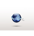 Global internet technology vector image vector image