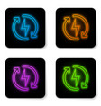 glowing neon recharging icon isolated on white vector image vector image