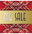 Golden red sale banner template in art deco vector image