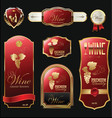 golden wine labels vector image