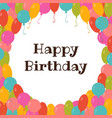 happy birthday card template with colorful vector image