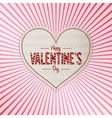 Happy Valentines Day white paper Banner vector image vector image