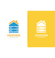 host and real estate logo combination vector image vector image