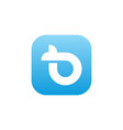 icon b logo vector image