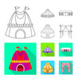 isolated object roand folding icon set of vector image vector image