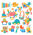 kids toys cartoon games for children vector image vector image