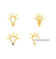light bulb symbol logo template vector image
