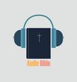 listen audio bible vector image vector image