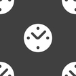Mechanical Clock icon sign Seamless pattern on a vector image vector image