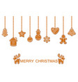 merry christmas holiday of vector image
