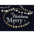 Merry Christmas Lights vector image vector image