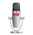 microphone element record studio equipment vector image vector image