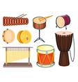 musical drum wood rhythm music instrument series vector image