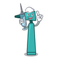 nurse otoscope character cartoon style vector image