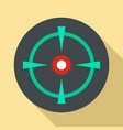 old gun aim icon flat style vector image