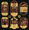 olive oil retro vintage background collection 4 vector image vector image