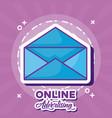 online marketing design vector image