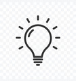 outline idea or lamp bulb icon isolated on vector image