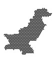 pakistan map abstract schematic from black vector image vector image