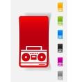 realistic design element cassette recorder vector image vector image