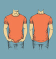 red t-shirt template vector image vector image