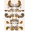 Retro Ornament Set vector image vector image