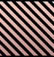 rose gold glittering diagonal lines pattern vector image