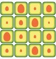 seamless avocado pattern vector image vector image