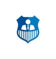 senior employee people shield logo vector image vector image