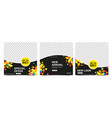 set editable advertising banners in black vector image vector image