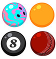 set of different balls vector image