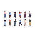 set people in casual trendy clothes african vector image vector image