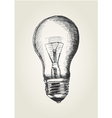 Sketch of a light bulb vector image vector image