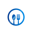spoon fork food eat logo vector image