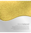 Stylish gold abstract background vector image