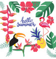 summer background with theme of summer holiday vector image vector image