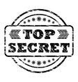 Top Secret damaged stamp vector image vector image