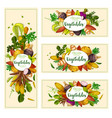 vegetables and exotic tubers vector image vector image