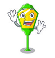 waving lamp post in isolated on mascot vector image vector image