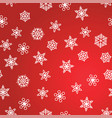 winter pattern snowfall and white snowflakes on vector image