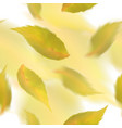 yellow leaves seamless pattern blurred veector vector image vector image