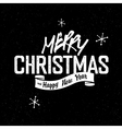 christmas lettering vintage vector image