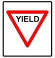 a yield road sign vector image