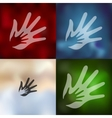 family icon on blurred background vector image