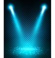 Spot light beams projection on floor vector image