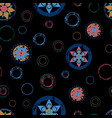 seamless abstract floral background pattern with vector image