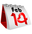 14 February Table Calendar vector image vector image