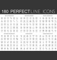 180 modern thin line icons set seo optimization vector image vector image