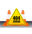 404 error sign with traffic cone vector image