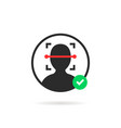 approved face id scanner logo vector image vector image